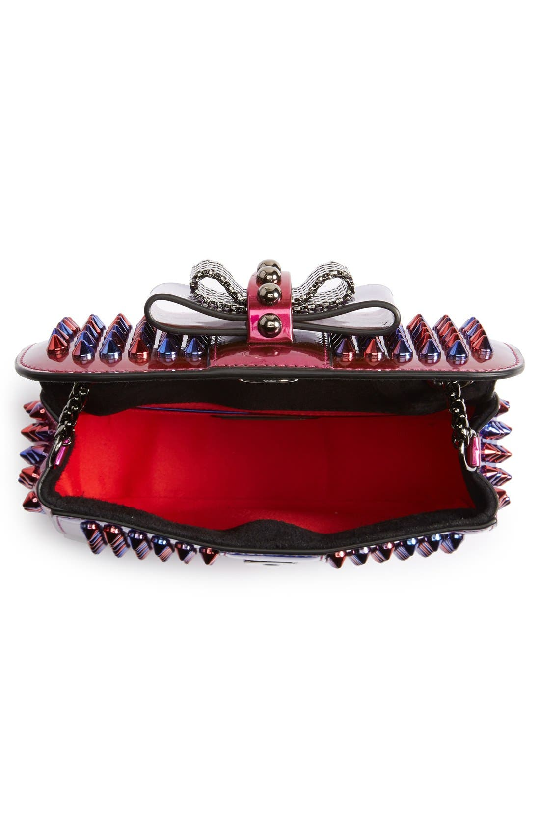 Alternate Image 4  - Christian Louboutin 'Sweety Charity Scarab Spike' Patent Leather Clutch