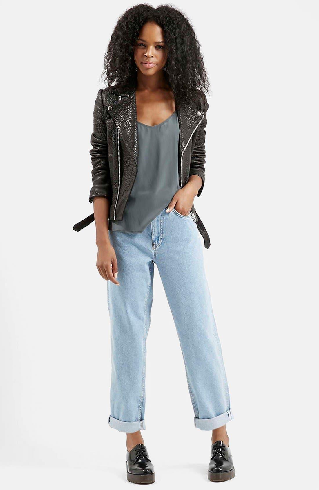 Alternate Image 5  - Topshop Boutique Vintage Boyfriend Jeans (Blue)