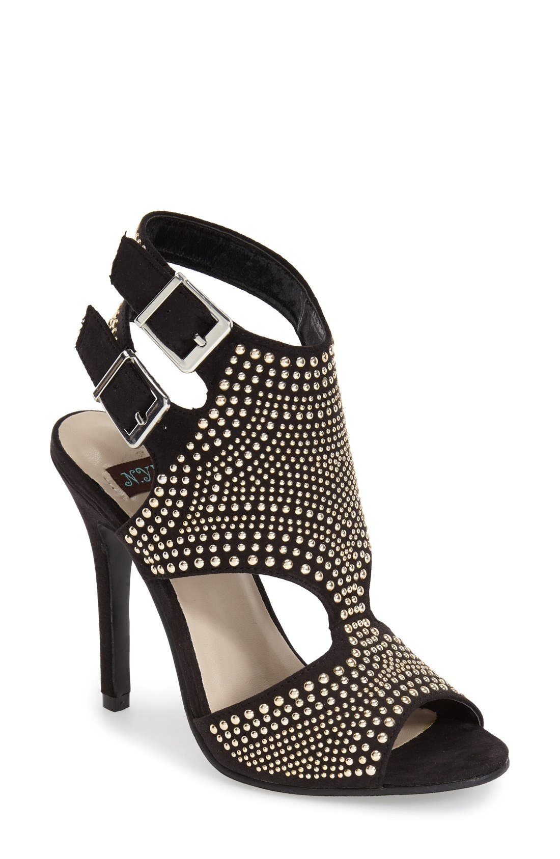 Main Image - N.Y.L.A. 'Pemkrook' Studded Cutout Sandal (Women)
