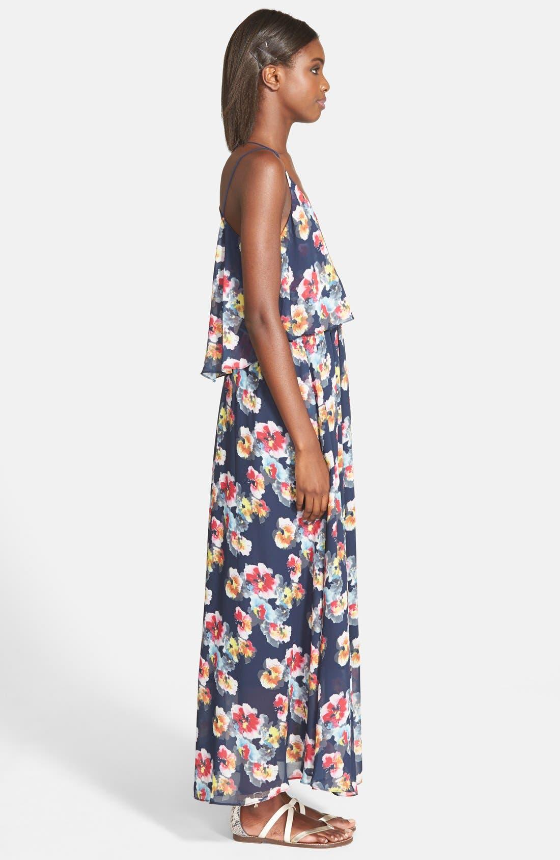 Alternate Image 3  - Lucy Paris 'Bonnie' Floral Maxi Dress