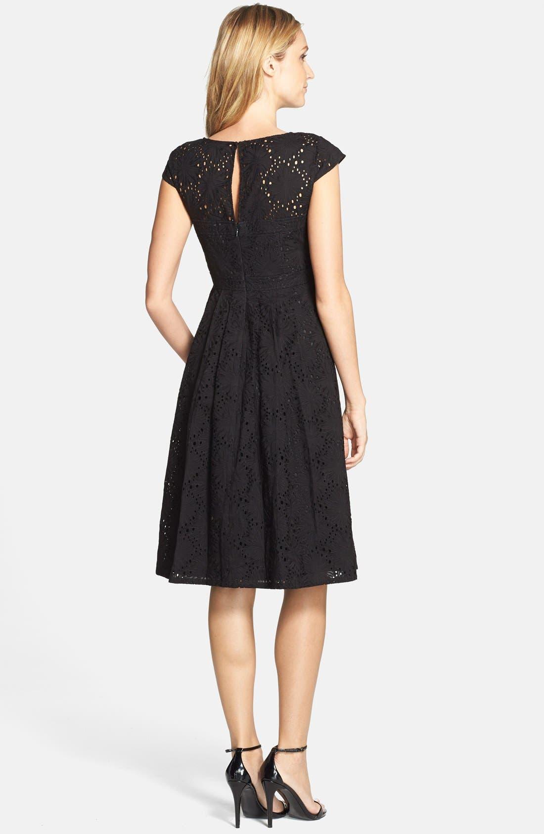 Alternate Image 2  - Adrianna Papell Eyelet Fit & Flare Dress
