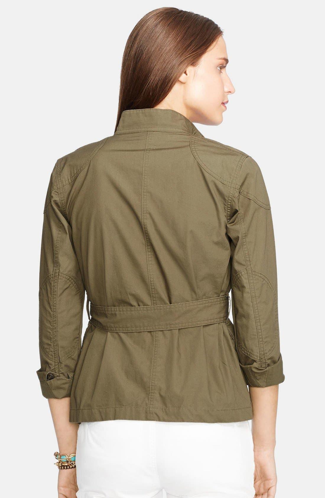 Alternate Image 2  - Lauren Ralph Lauren Cotton Military Jacket