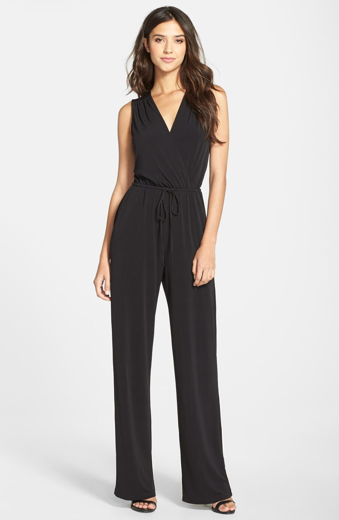 Alternate Image 1 Selected - BCBGeneration Open Back Jumpsuit