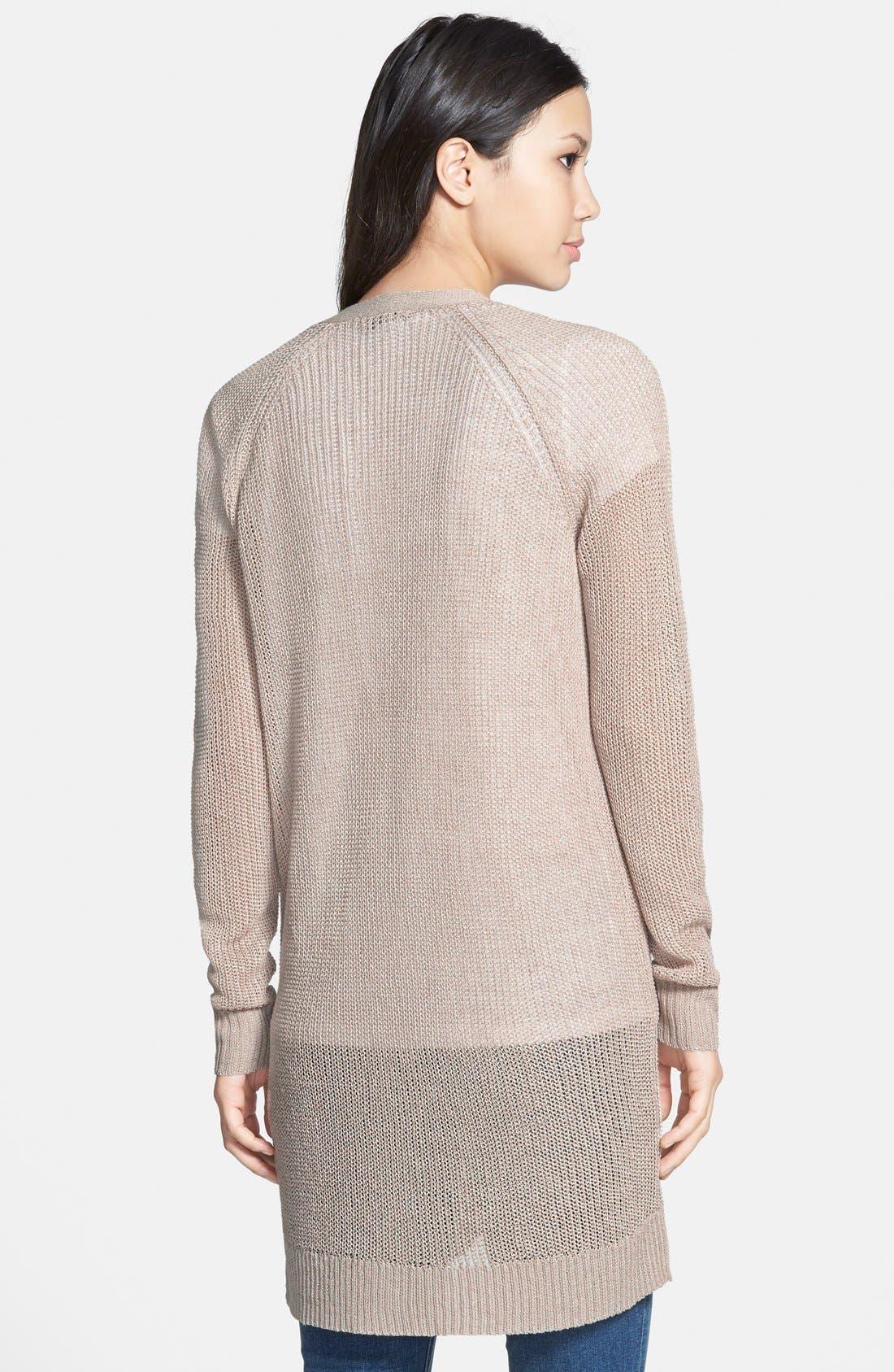 Alternate Image 2  - Halogen® Raglan Sleeve Long Cardigan (Regular & Petite)