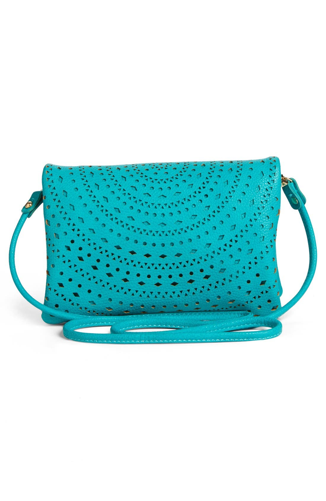 Alternate Image 2  - Street Level Perforated Faux Leather Mini Crossbody Bag