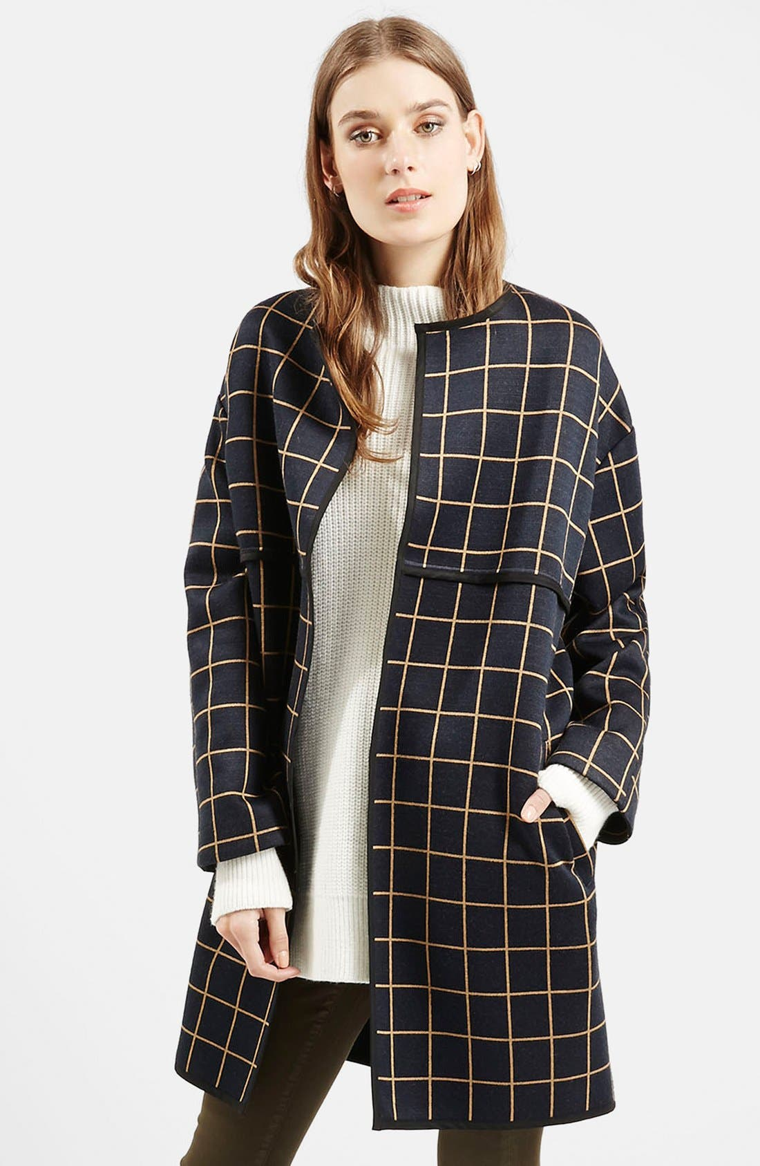 Alternate Image 1 Selected - Topshop Check Topper (Nordstrom Exclusive)