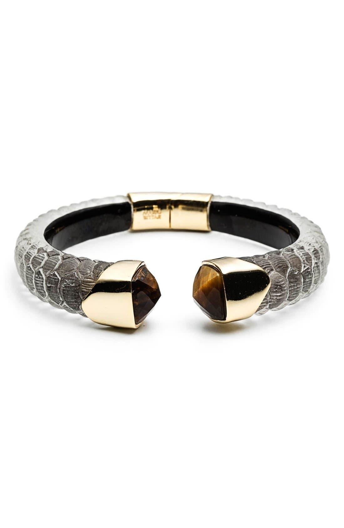Main Image - Alexis Bittar 'Lucite® - Crocodile' Hinged Bracelet