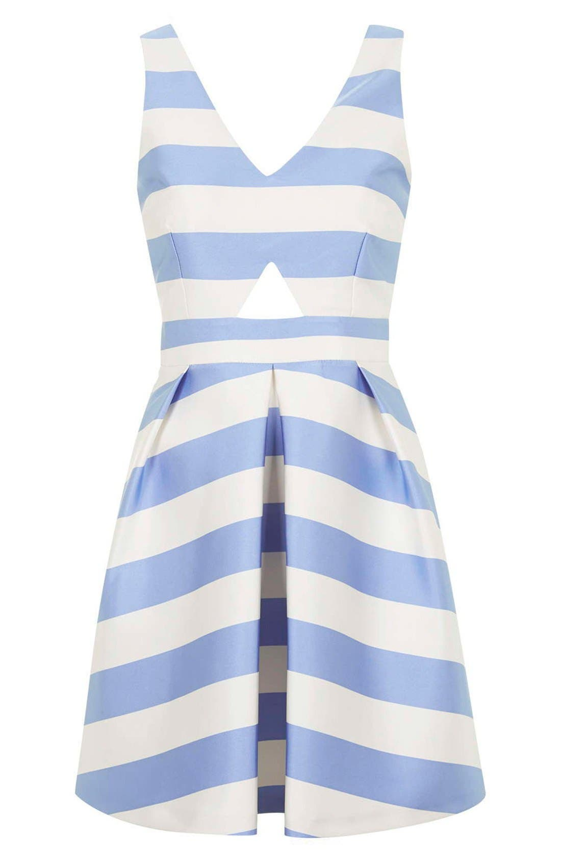 Alternate Image 3  - Topshop Stripe V-Neck Cutout Dress