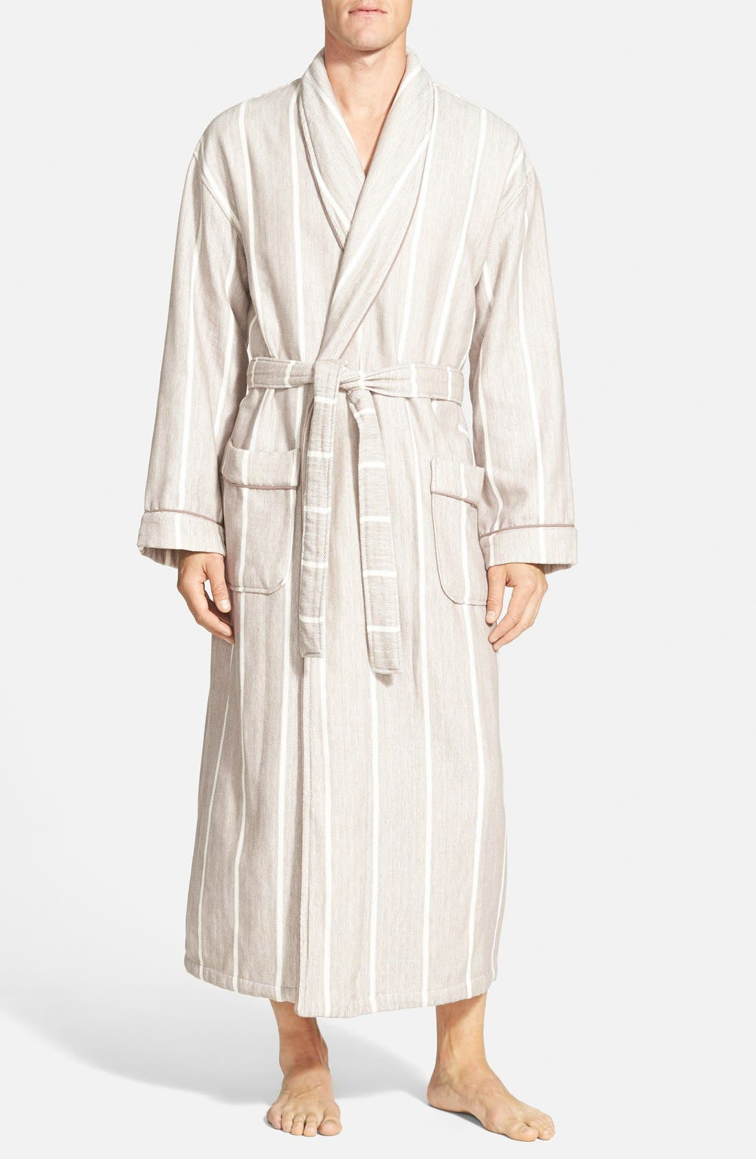 MAJESTIC INTERNATIONAL 'Breakers' Herringbone Cotton Robe