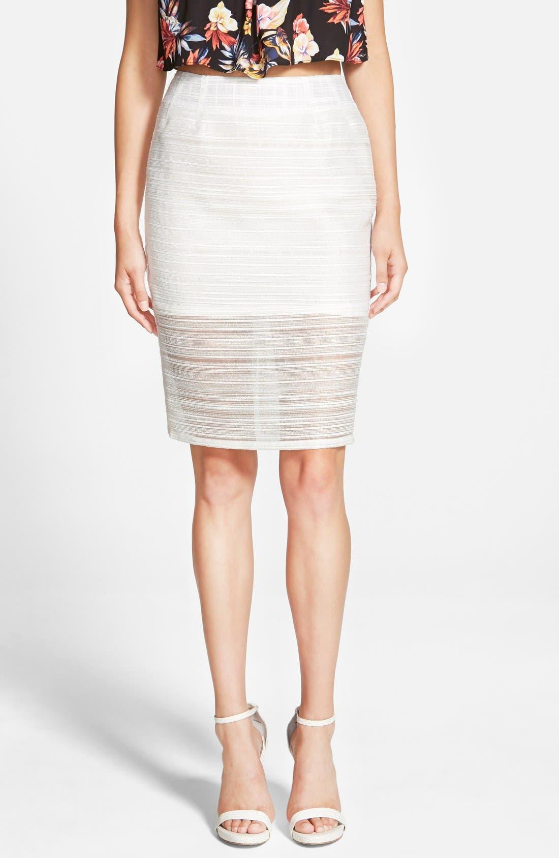 Main Image - Whitney Eve 'Mosquito Bay' Pencil Skirt