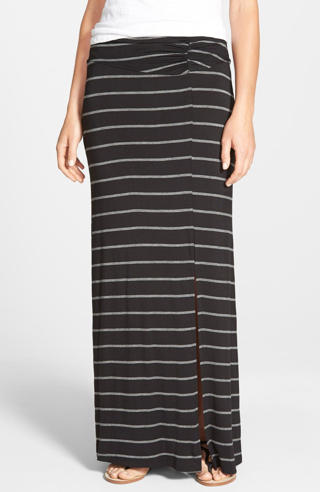 Alternate Image 1 Selected - Bobeau Slit Maxi Skirt (Regular & Petite)