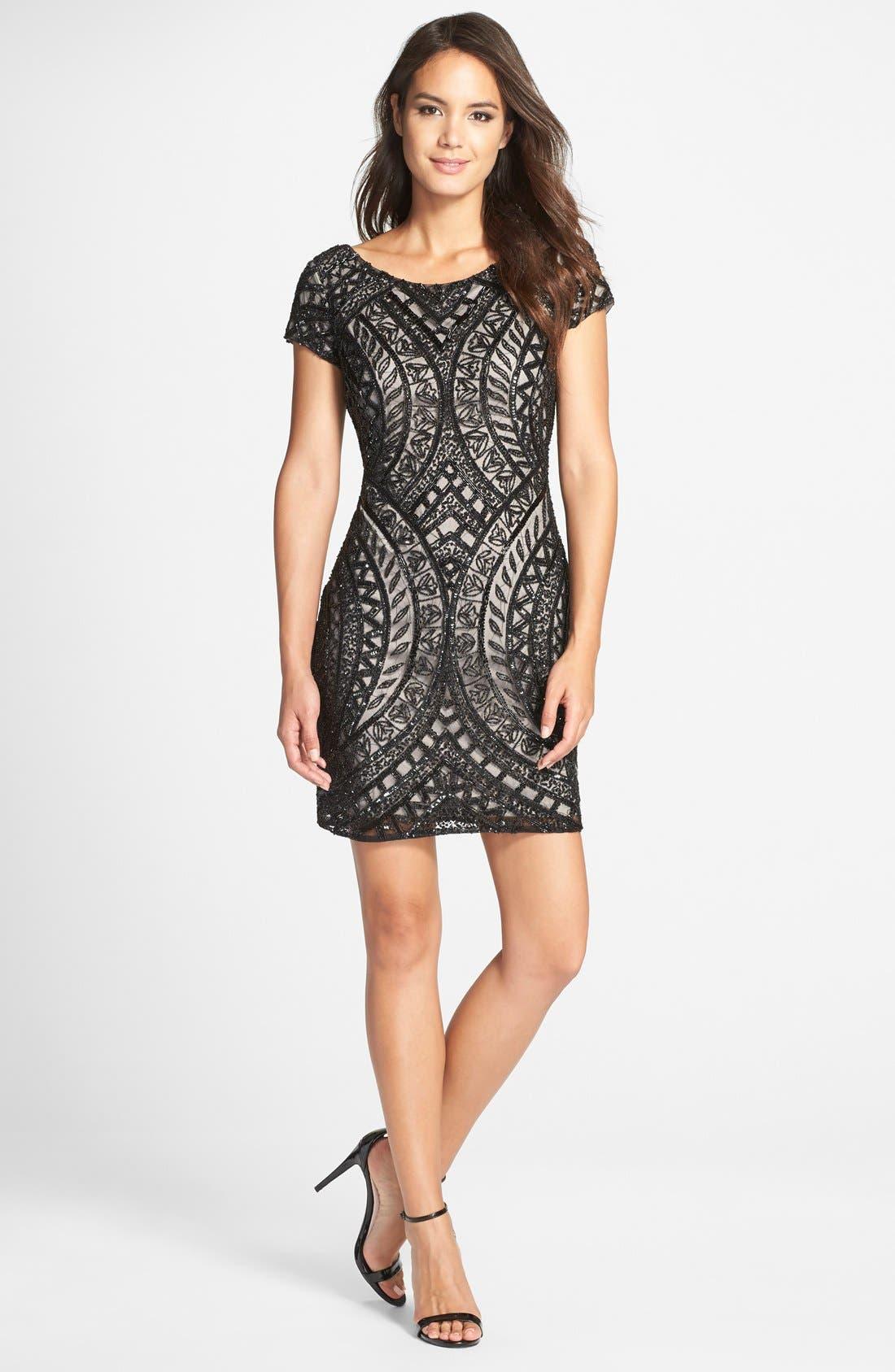 Alternate Image 3  - Adrianna Papell Beaded Sheath Dress