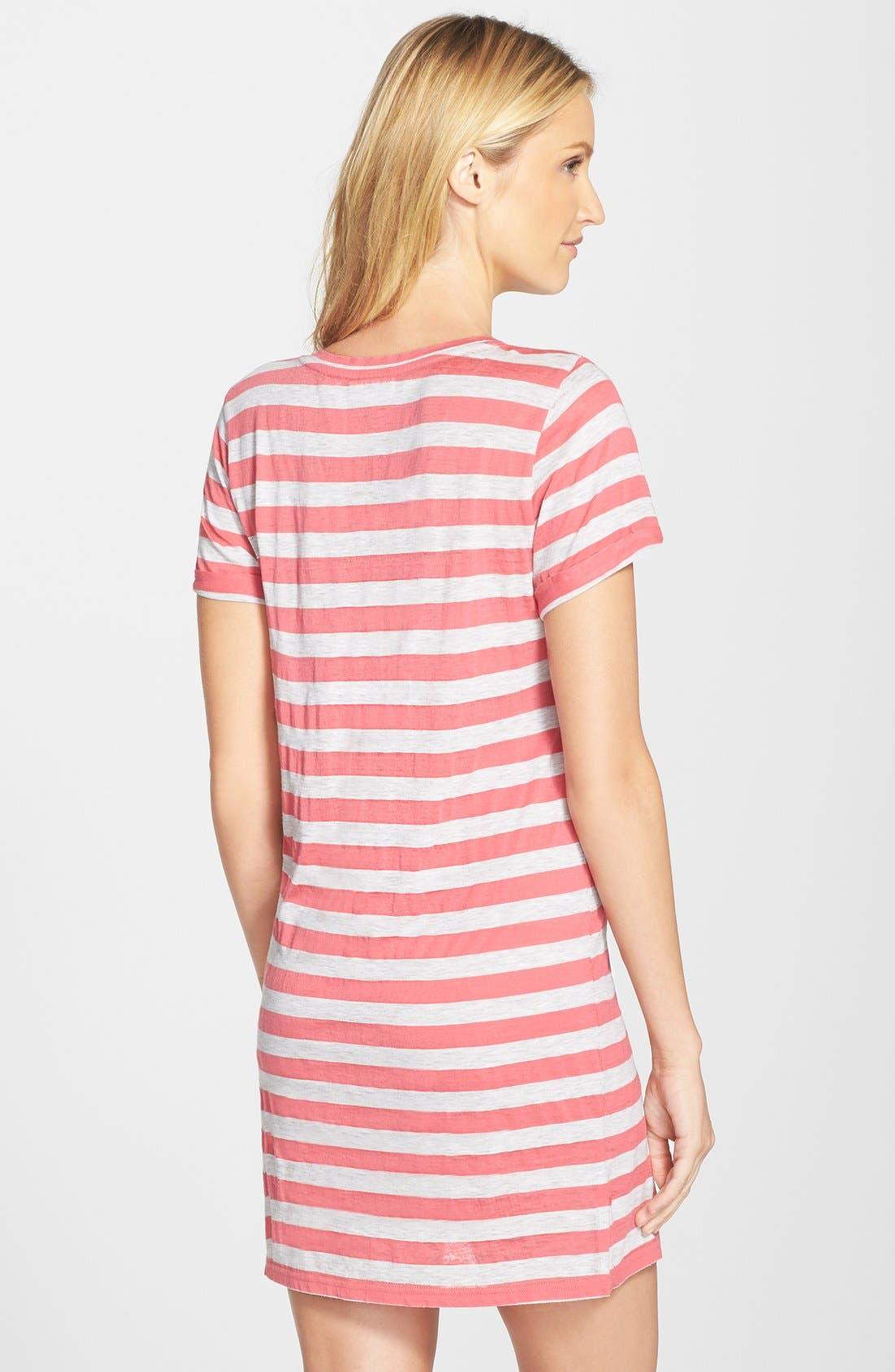 Alternate Image 2  - Nordstrom Print Lightweight Jersey Nightshirt