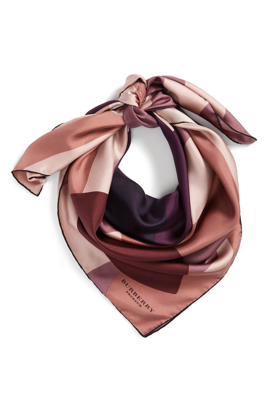 Alternate Image 1 Selected - Burberry Camo Floral Silk Square Scarf
