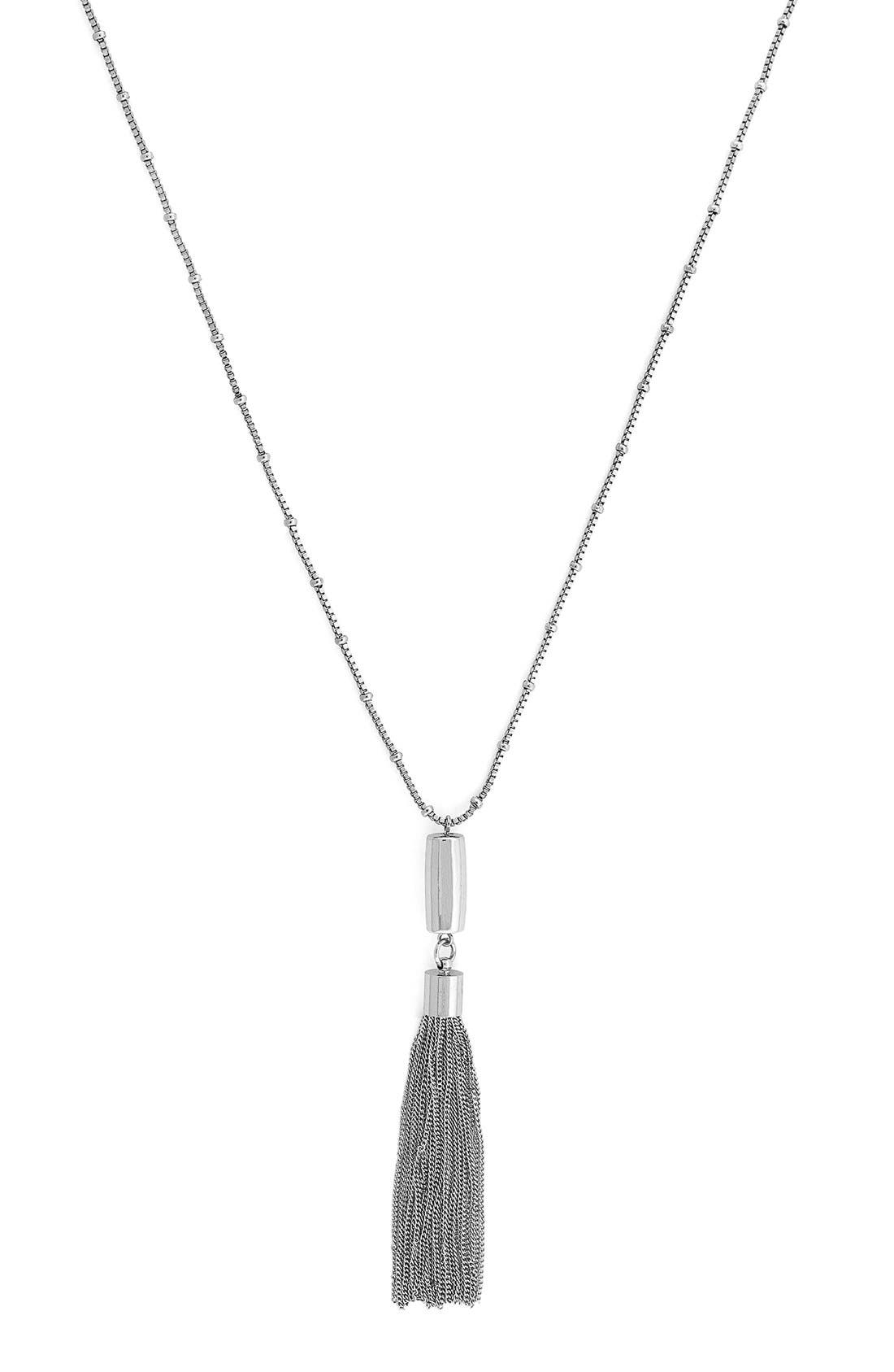 Alternate Image 1 Selected - Vince Camuto 'Haute Tassels' Long Tassel Necklace