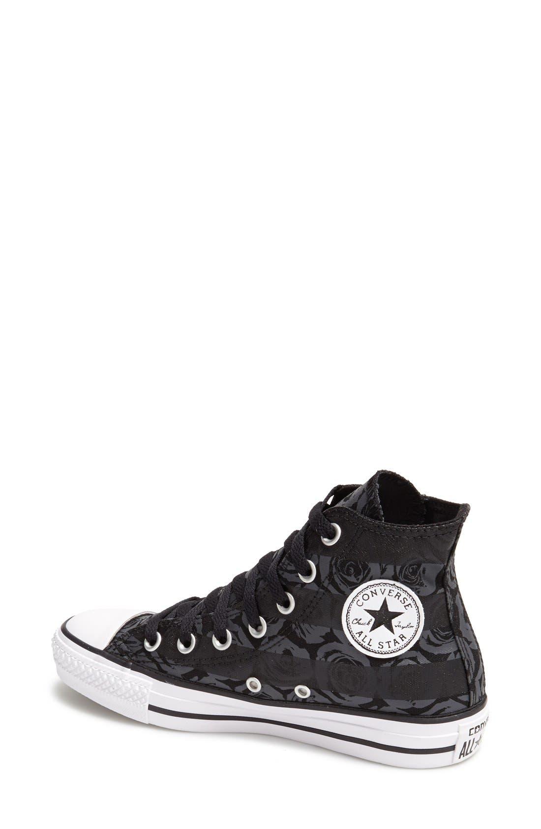 Alternate Image 2  - Converse Chuck Taylor® All Star® Rose Print High Top Sneaker (Women)