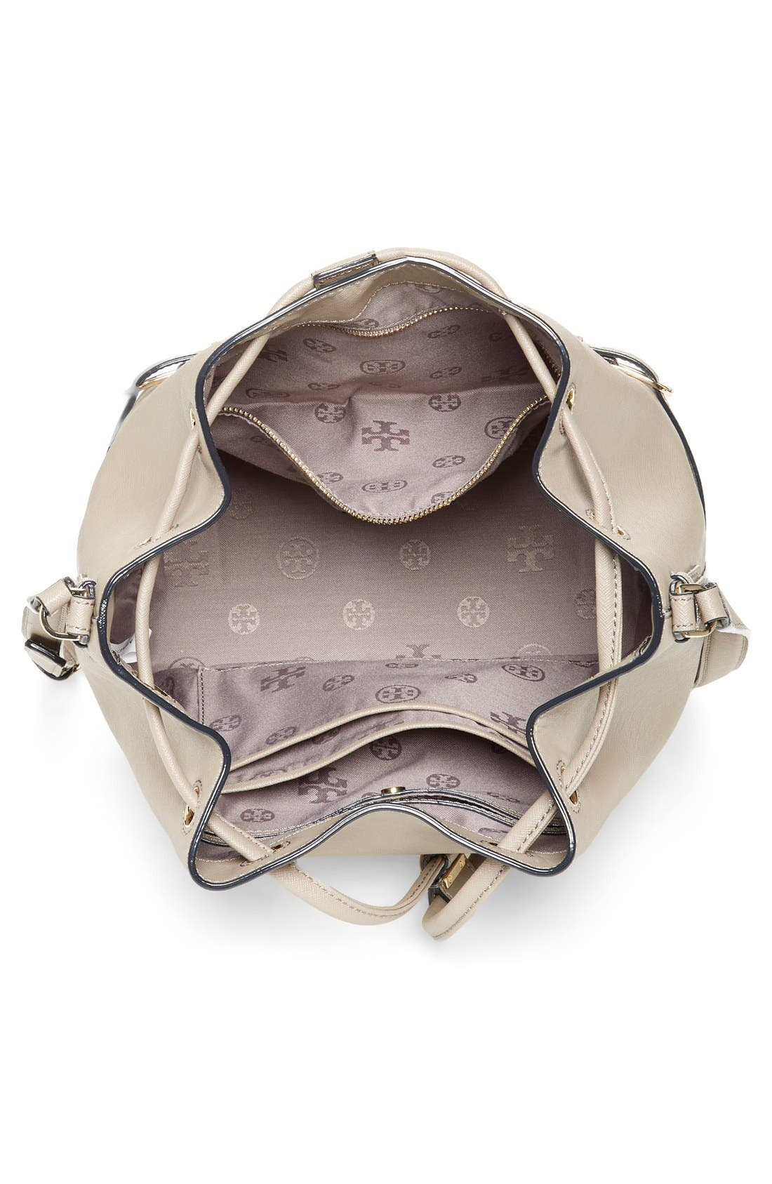 Alternate Image 4  - Tory Burch 'Robinson' Saffiano Leather Bucket Bag