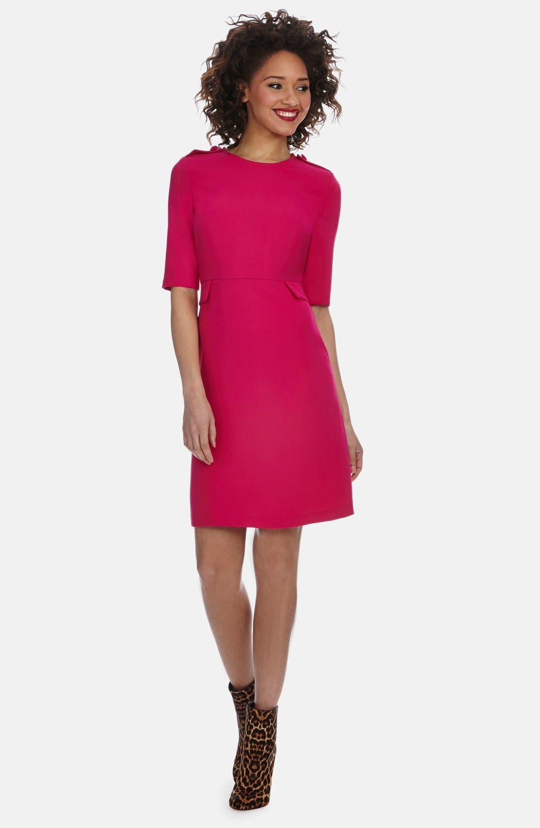 Alternate Image 1 Selected - Donna Morgan Crepe Sheath Dress (Regular & Petite)