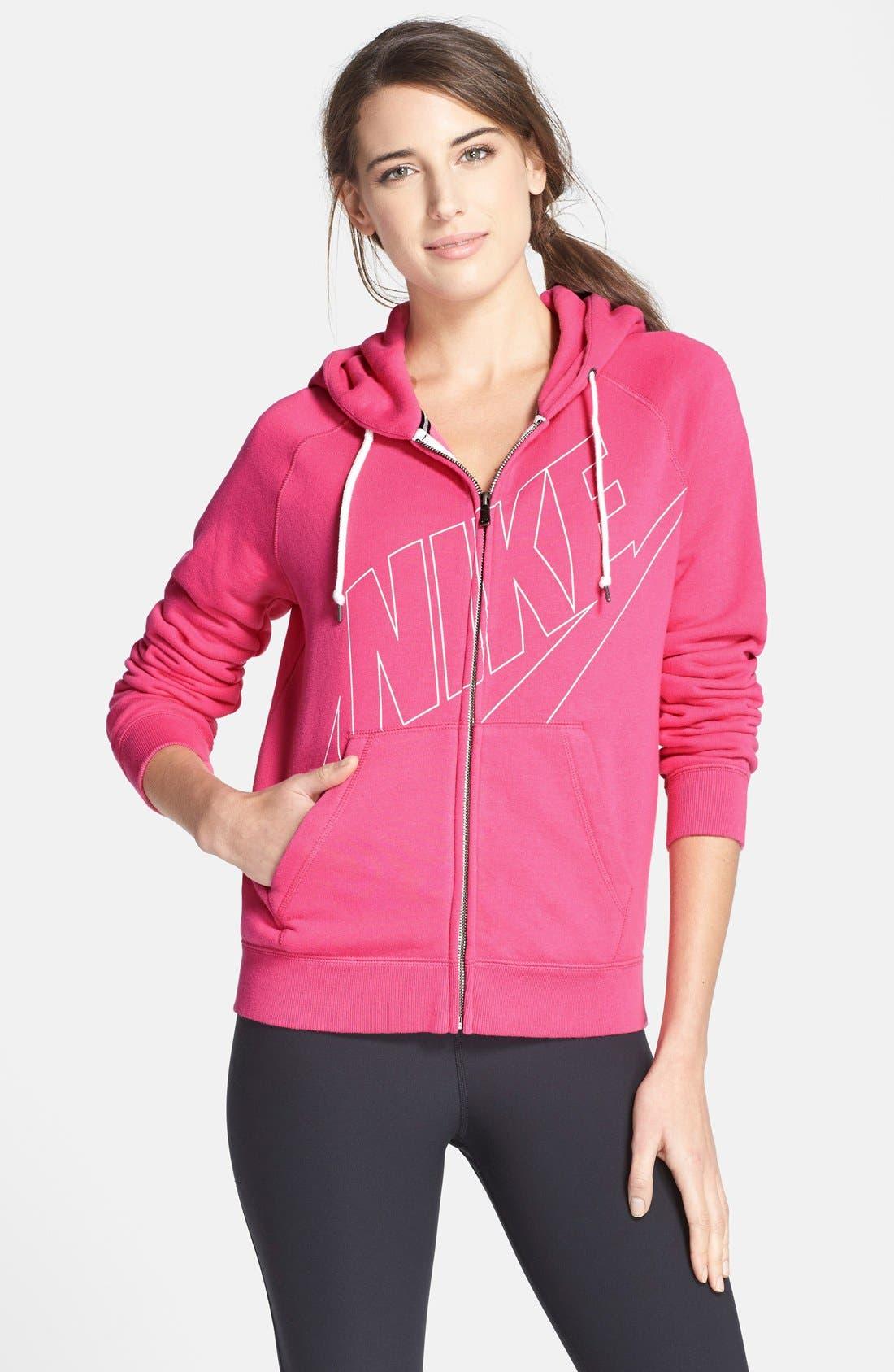 Alternate Image 1 Selected - Nike 'Rally' Zip Hoodie