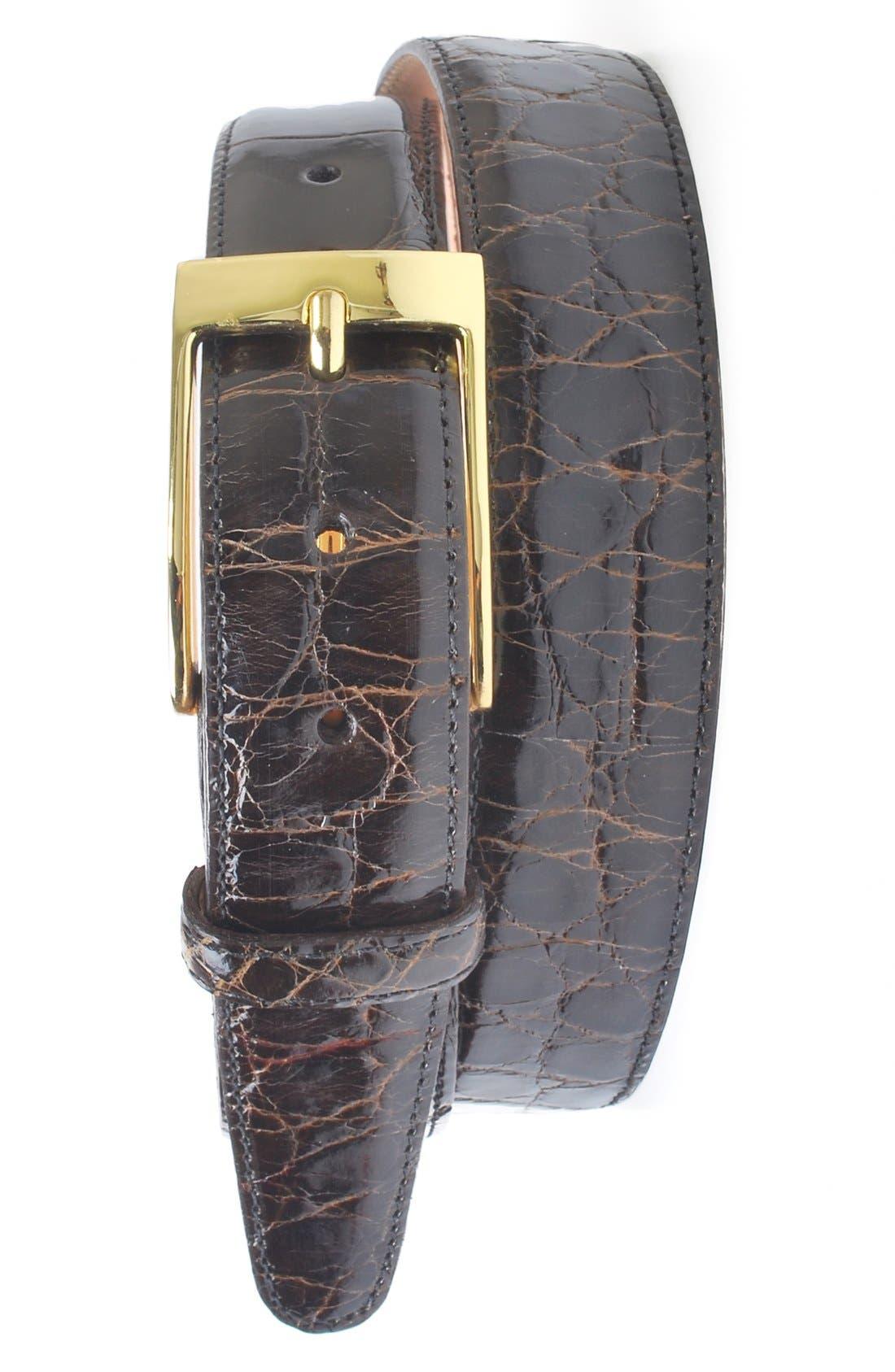 Martin Dingman 'Joseph' Genuine American Alligator Leather Belt