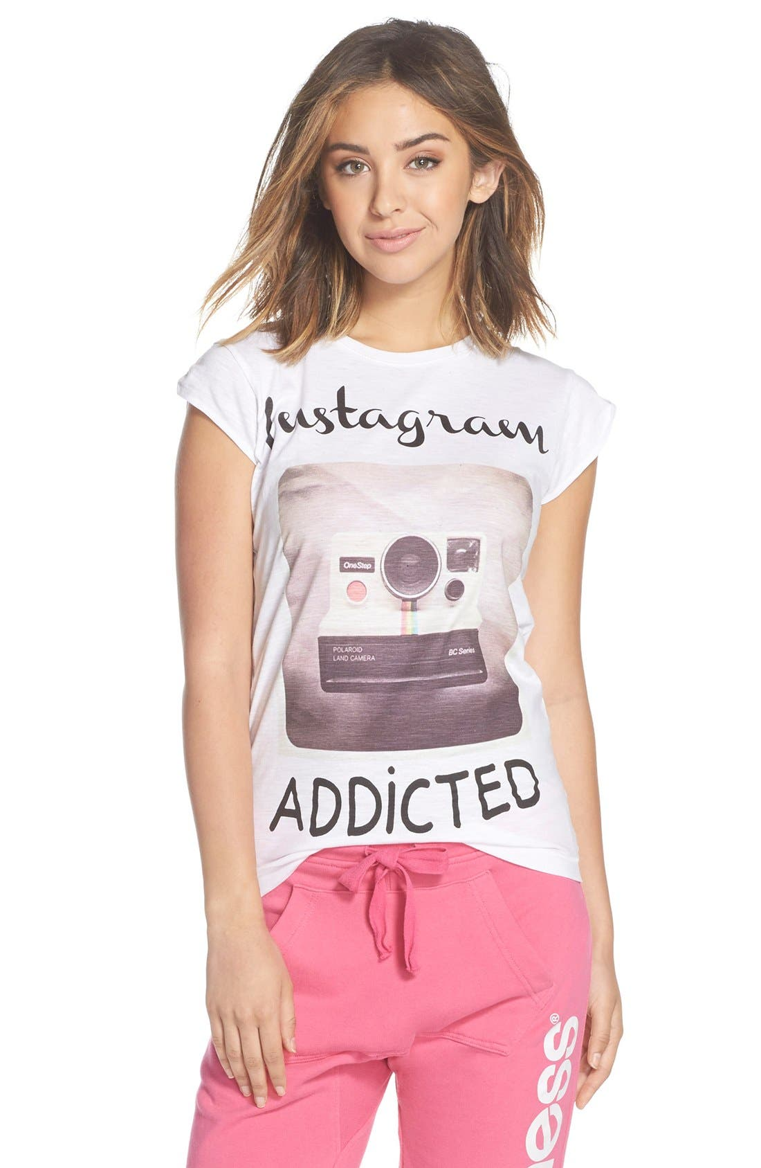 Alternate Image 1 Selected - Happiness® 'Instagram Addicted' Graphic Tee
