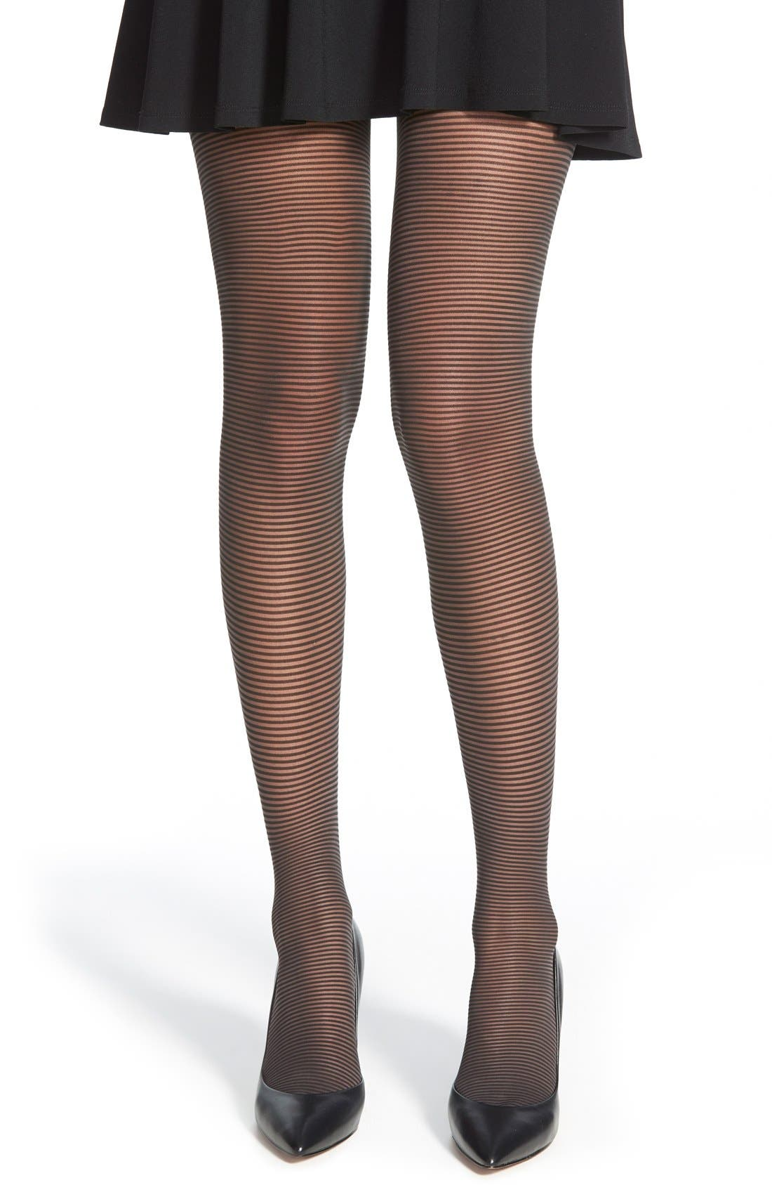 Main Image - Wolford'Lou' Stripe Tights