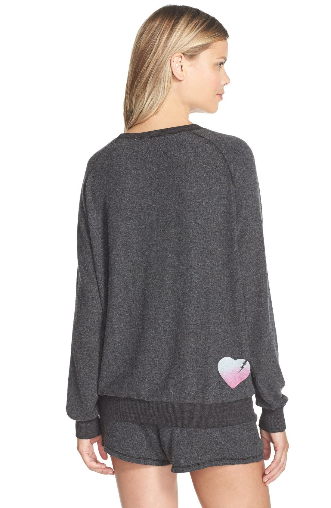 Alternate Image 2  - Junk Food 'How 2 Be A Heartbreaker' Hacci Pullover Sweatshirt