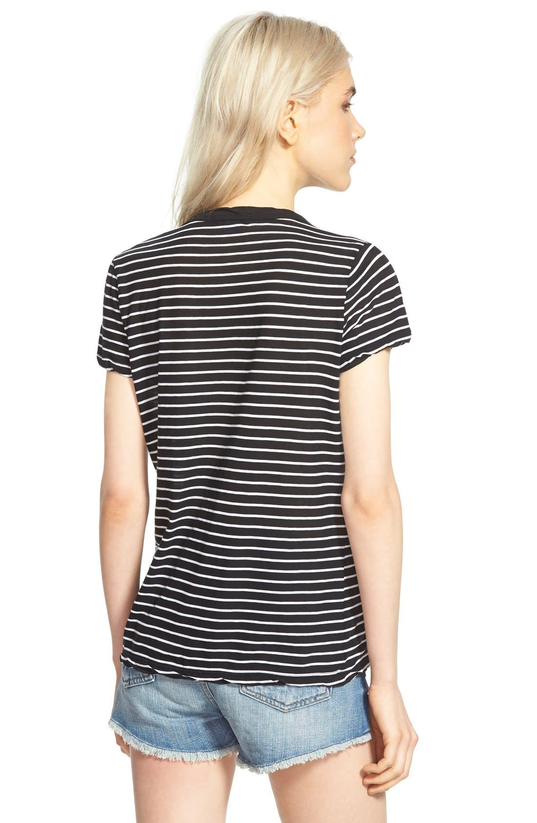 Alternate Image 2  - James Perse Classic Stripe Tee