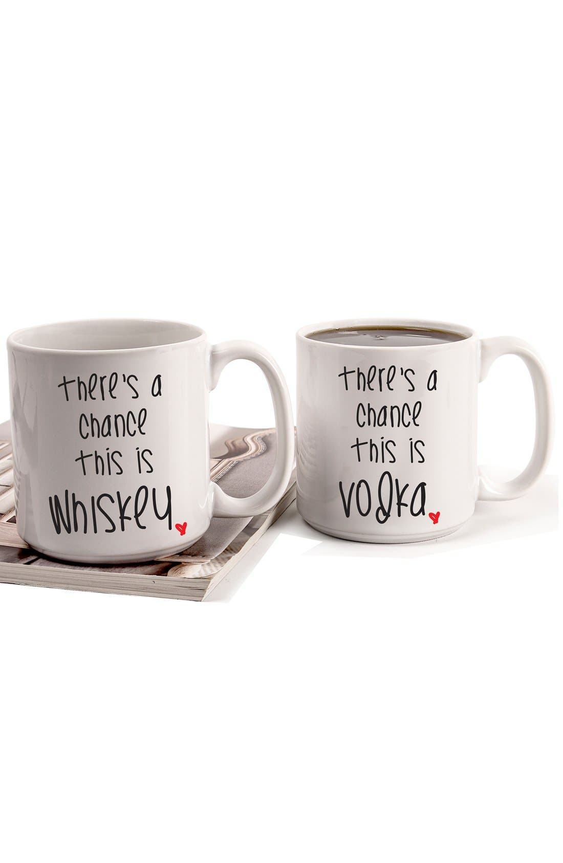Alternate Image 2  - Cathy's Concepts 'There's a Chance' Ceramic Coffee Mugs (Set of 2)