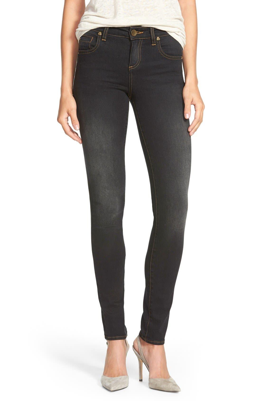Alternate Image 1 Selected - KUT from the Kloth 'Diana' Stretch Skinny Jeans (Black) (Regular & Petite)
