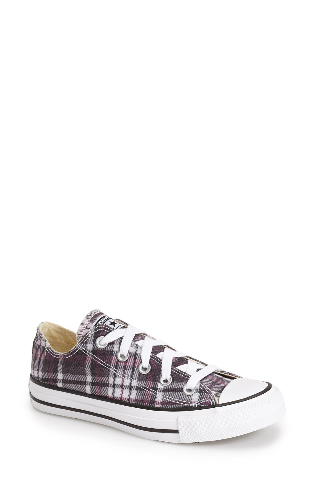 Alternate Image 1 Selected - Converse Chuck Taylor® All Star® Plaid Low Top Sneaker (Women)