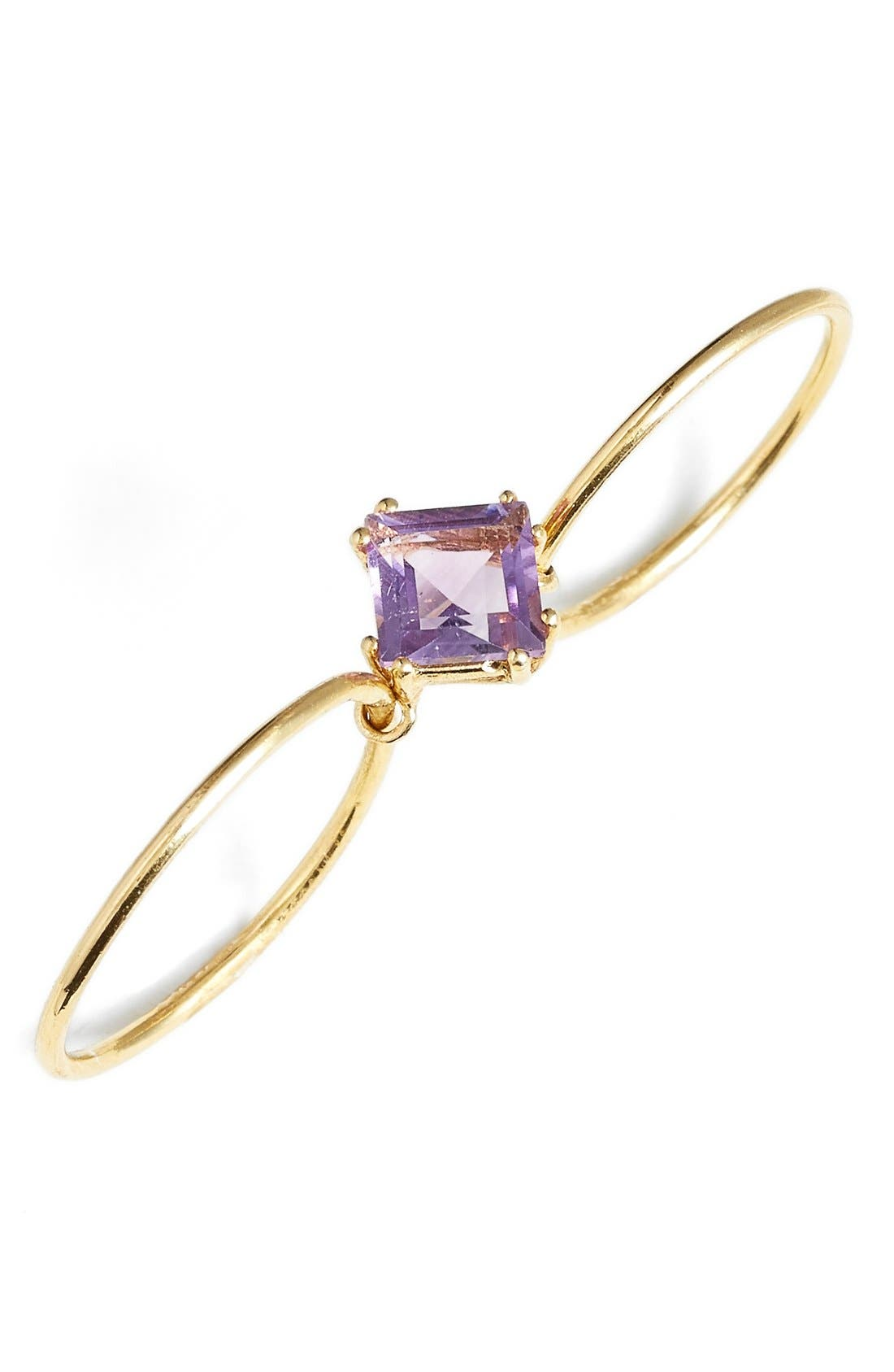 Alternate Image 1 Selected - Sara Lasry Amethyst Double Slide Ring