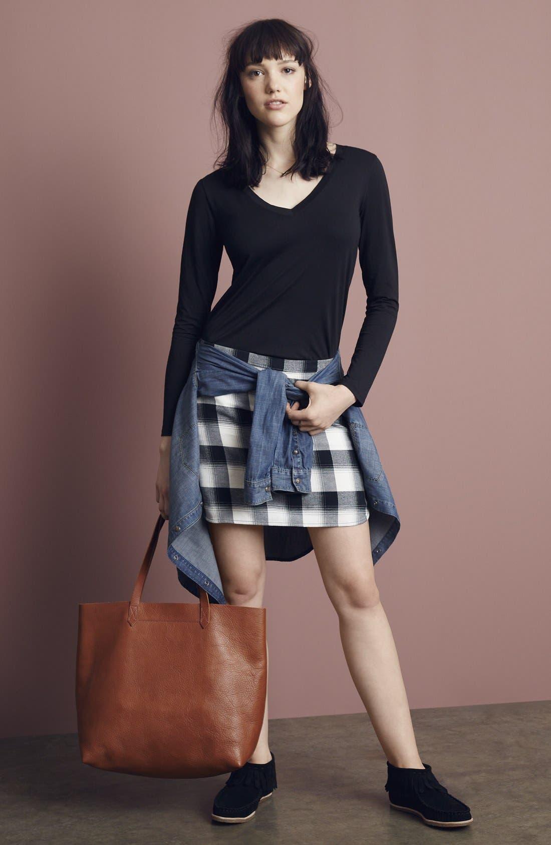 Alternate Image 6  - Treasure&Bond Plaid Miniskirt
