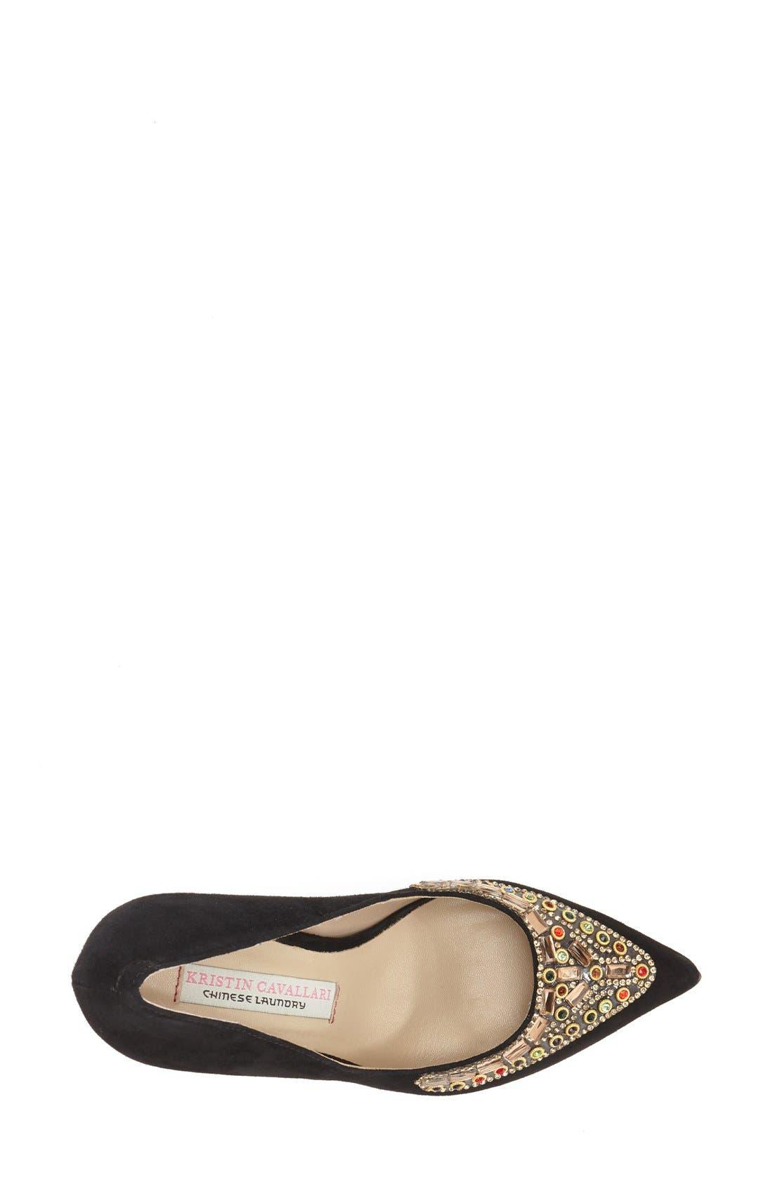 Alternate Image 3  - Kristin Cavallari 'Dani' Embellished Pointy Toe Pump (Women)