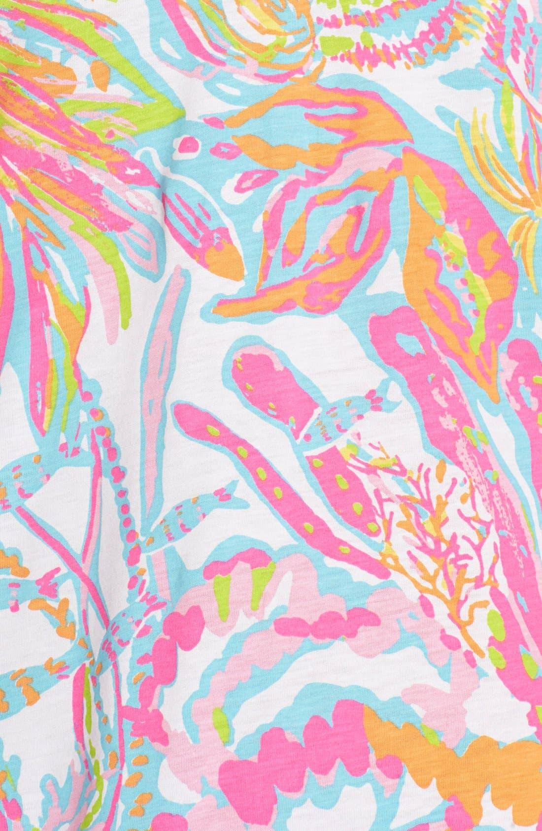 Alternate Image 4  - Lilly Pulitzer® 'Brewster' Contrast Trim Print T-Shirt Dress