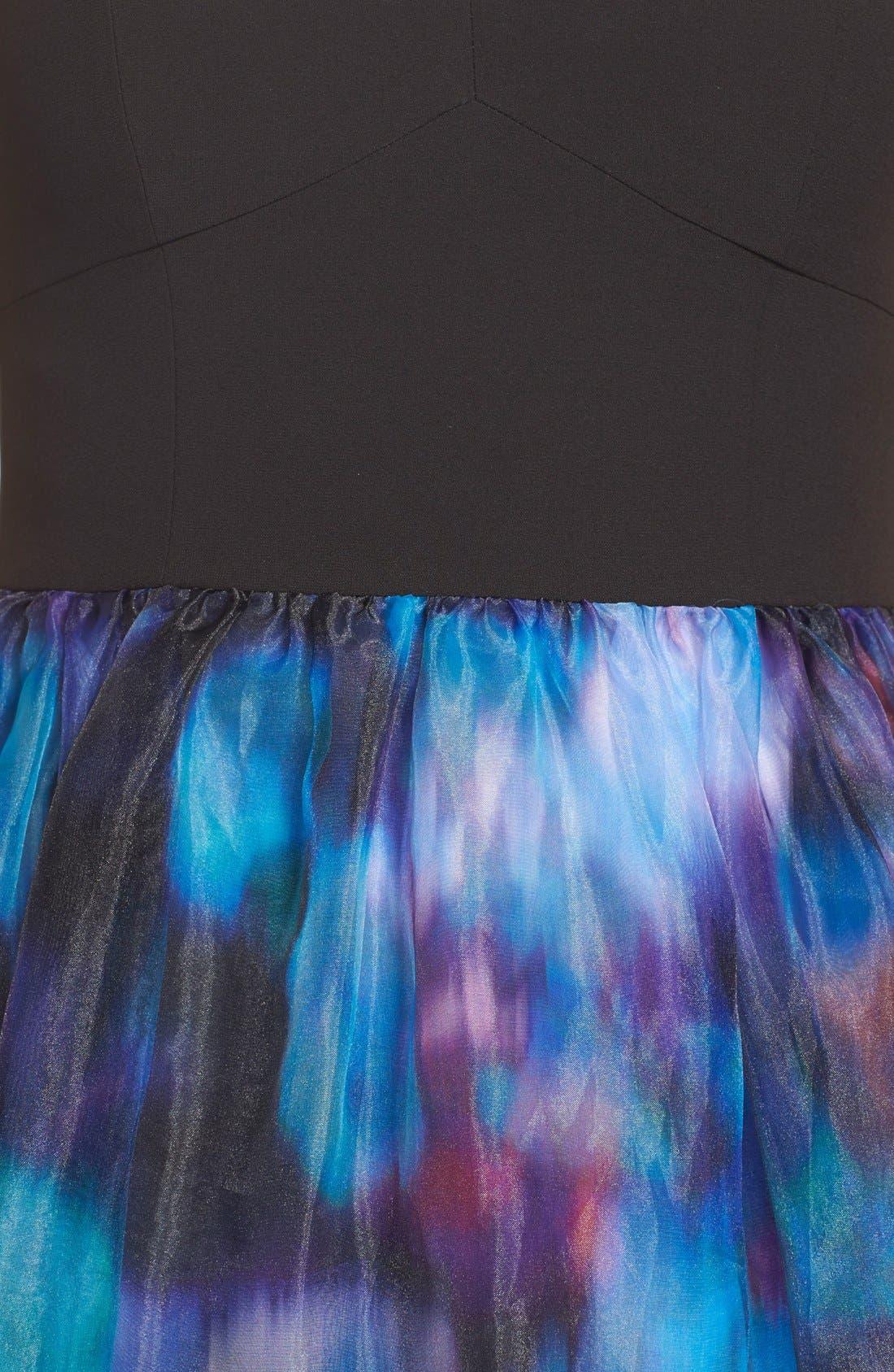 Alternate Image 3  - Aidan by Aidan Mattox Print Organza Gown