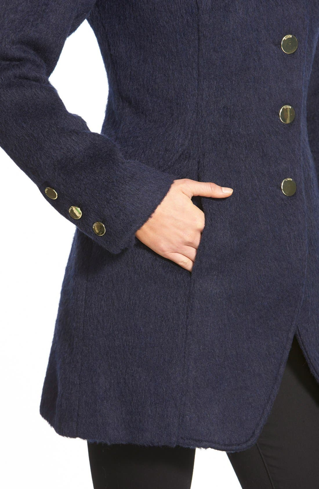 Alternate Image 6  - GUESS Asymmetrical Cutaway Coat