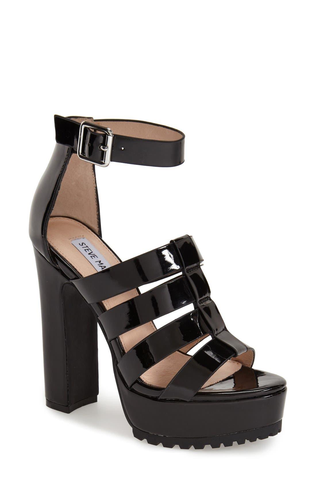 Alternate Image 1 Selected - Steve Madden 'Groove' Platform Sandal (Women)