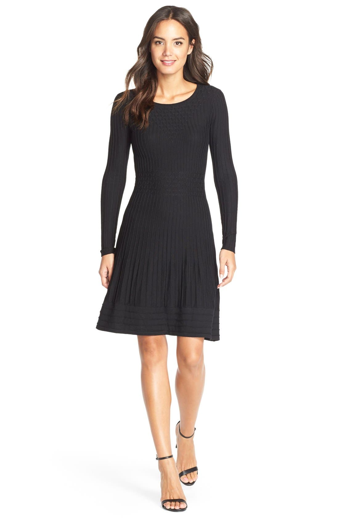 Main Image - Adrianna Papell Sweater Fit & Flare Dress