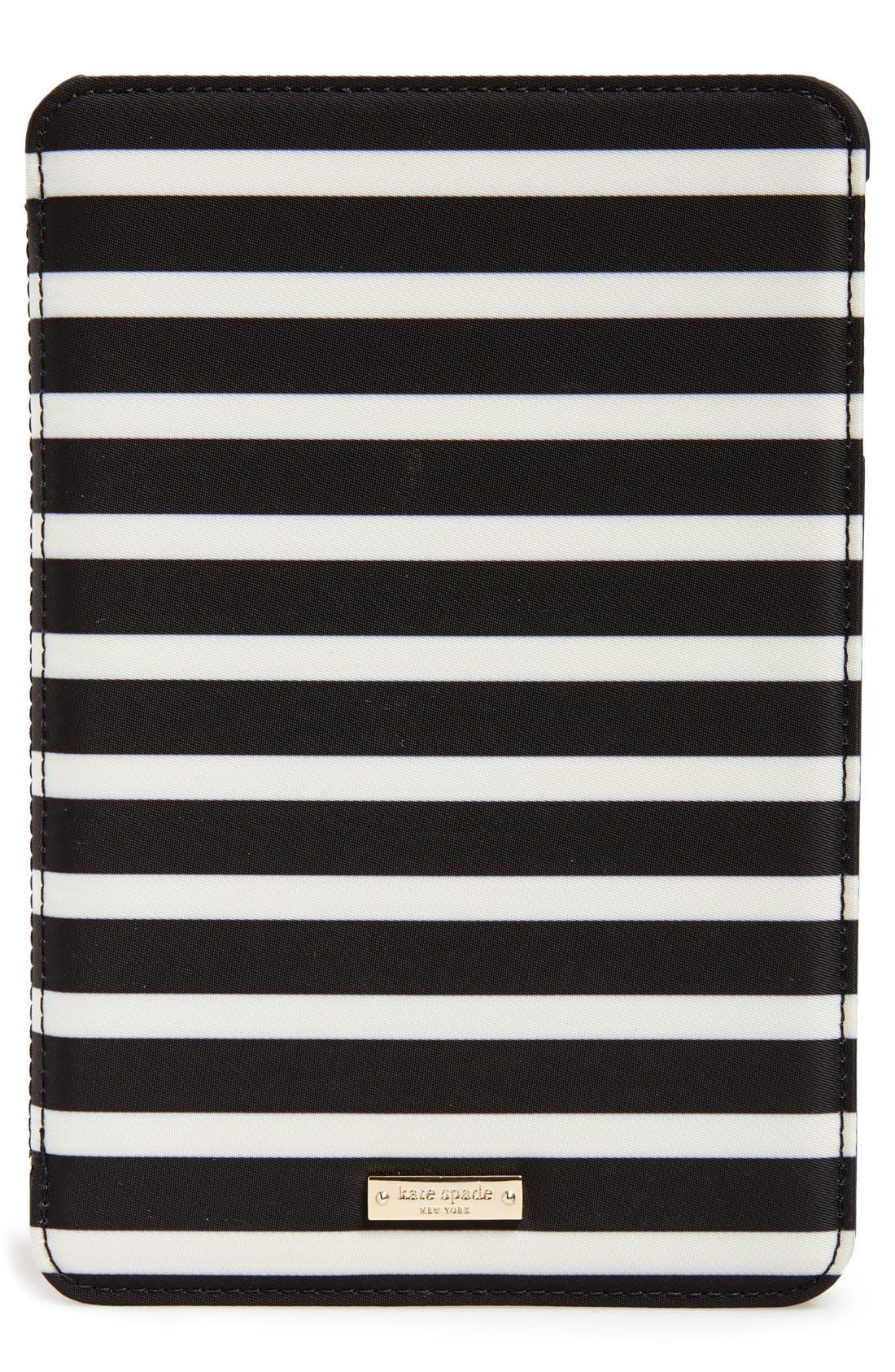 Alternate Image 2  - kate spade new york 'classic nylon stripe' iPad mini folio case