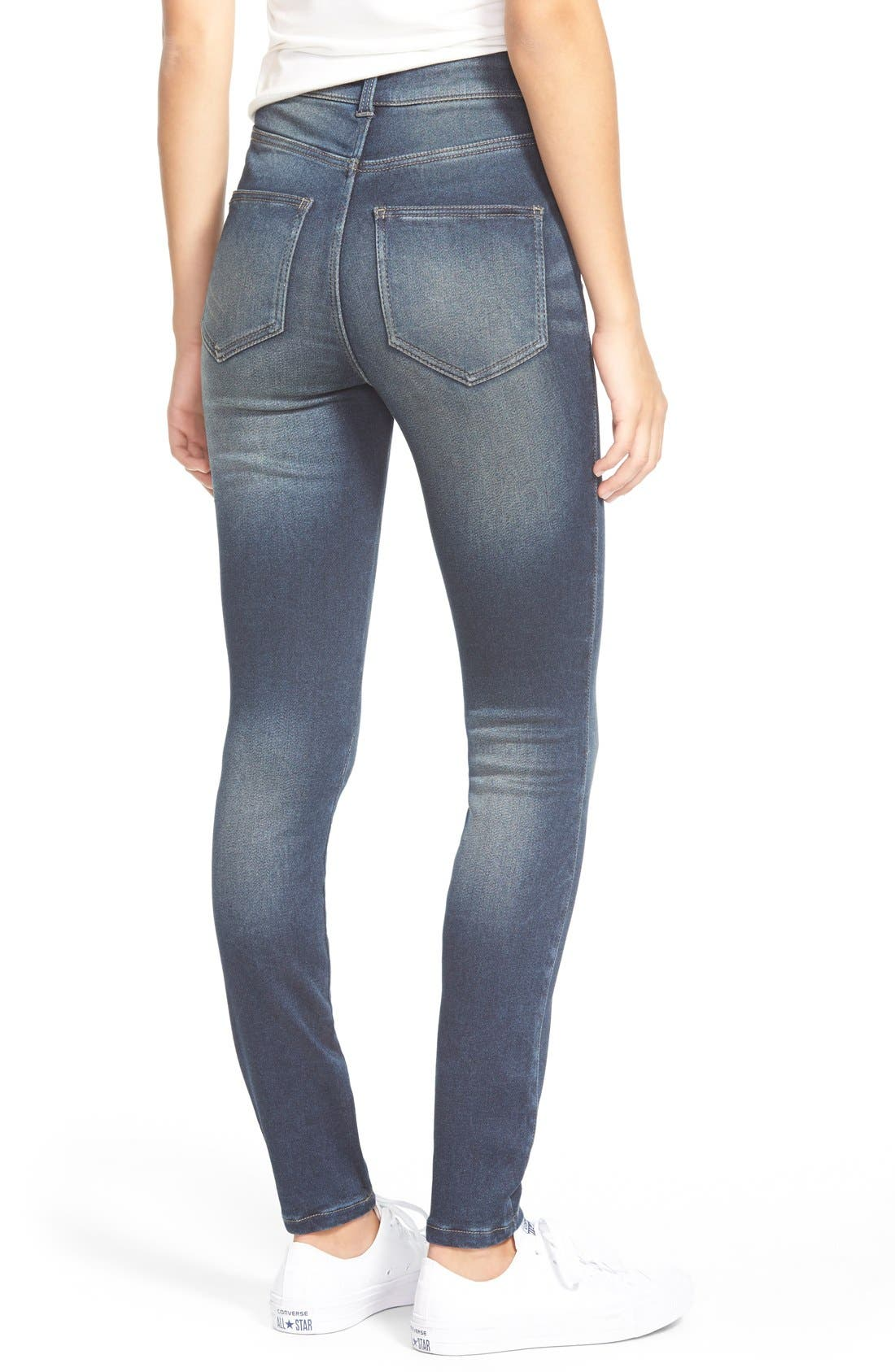 Alternate Image 2  - Generra High Waist Skinny Jeans
