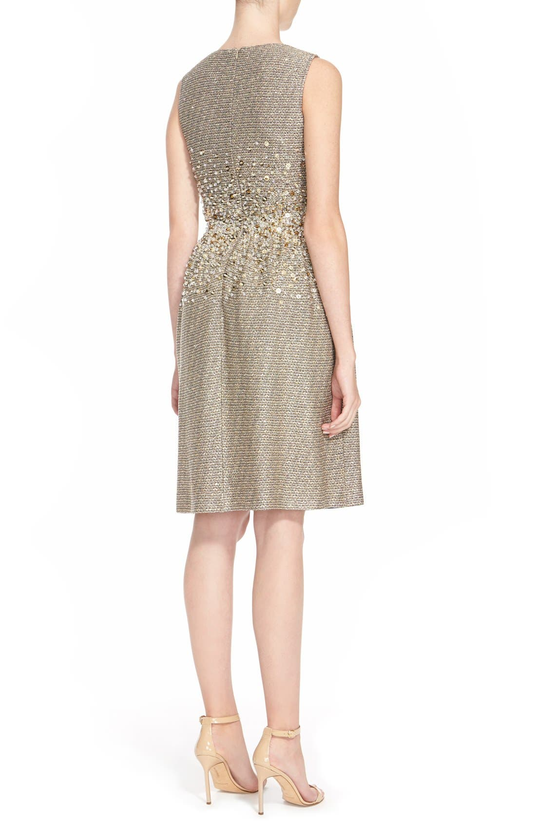 Alternate Image 2  - St. John Collection Hand Beaded Bauble Knit Dress