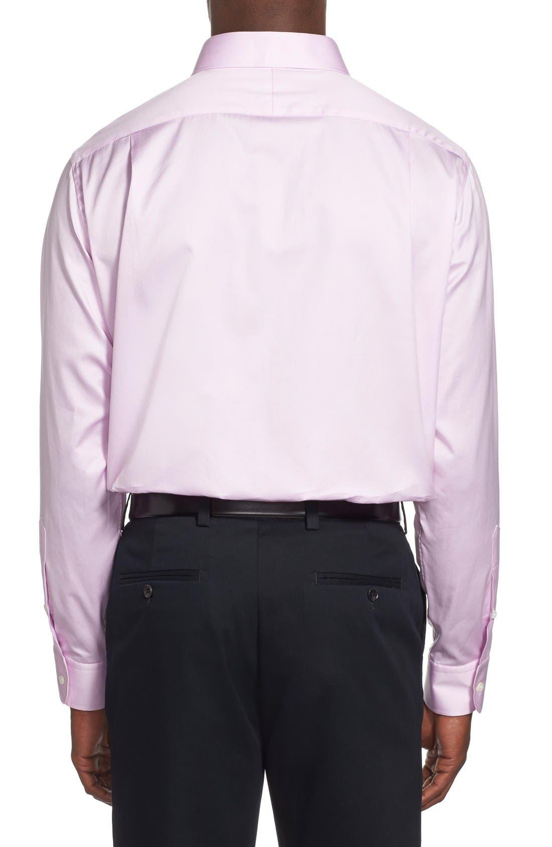 Alternate Image 3  - Ike Behar Regular Fit Solid Dress Shirt (Online Only)