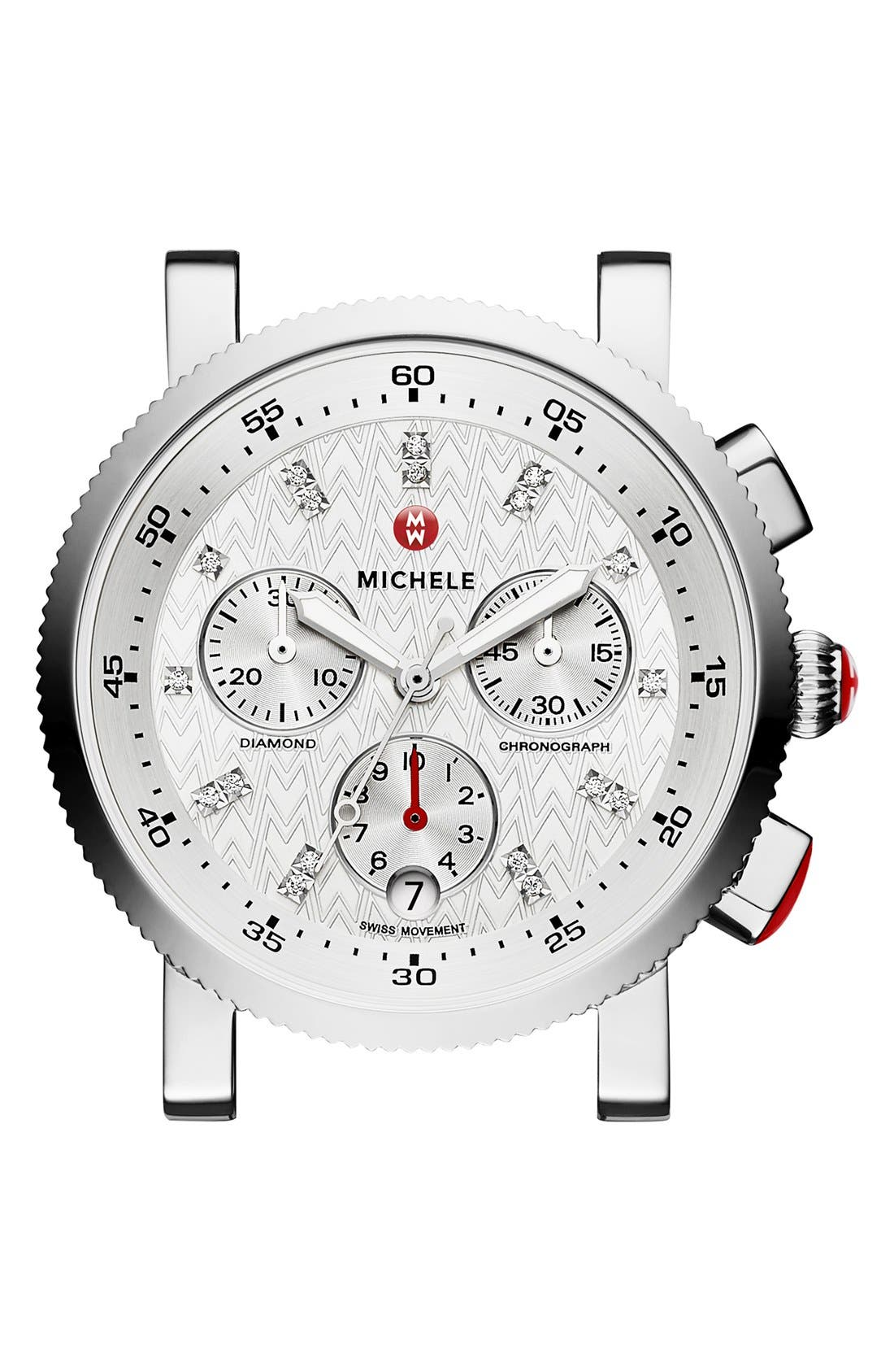 Alternate Image 1 Selected - MICHELE Sport Sail Chronograph Watch Head, 38mm