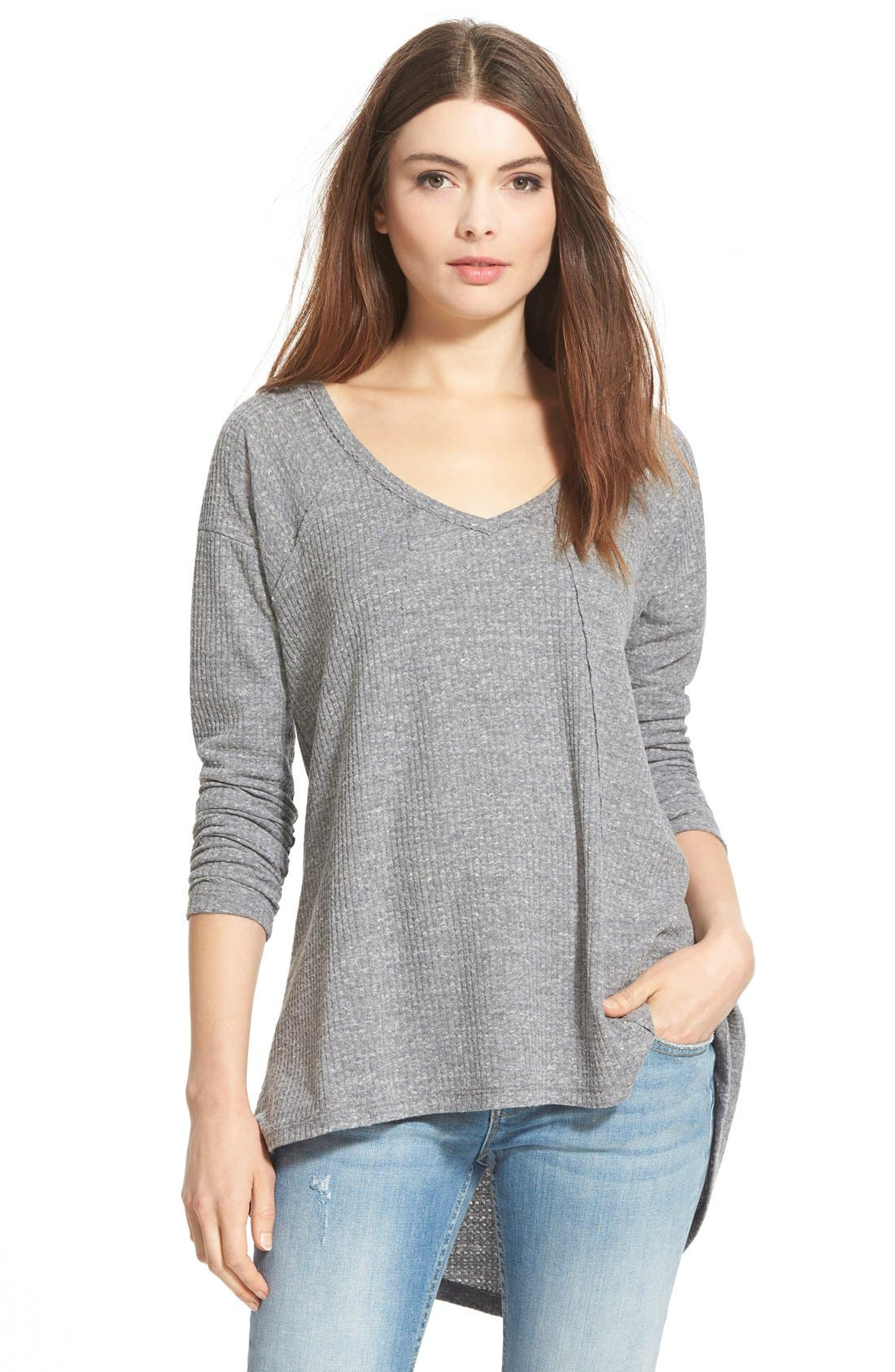 Alternate Image 1 Selected - Sun & Shadow V-Neck Thermal Swing Top
