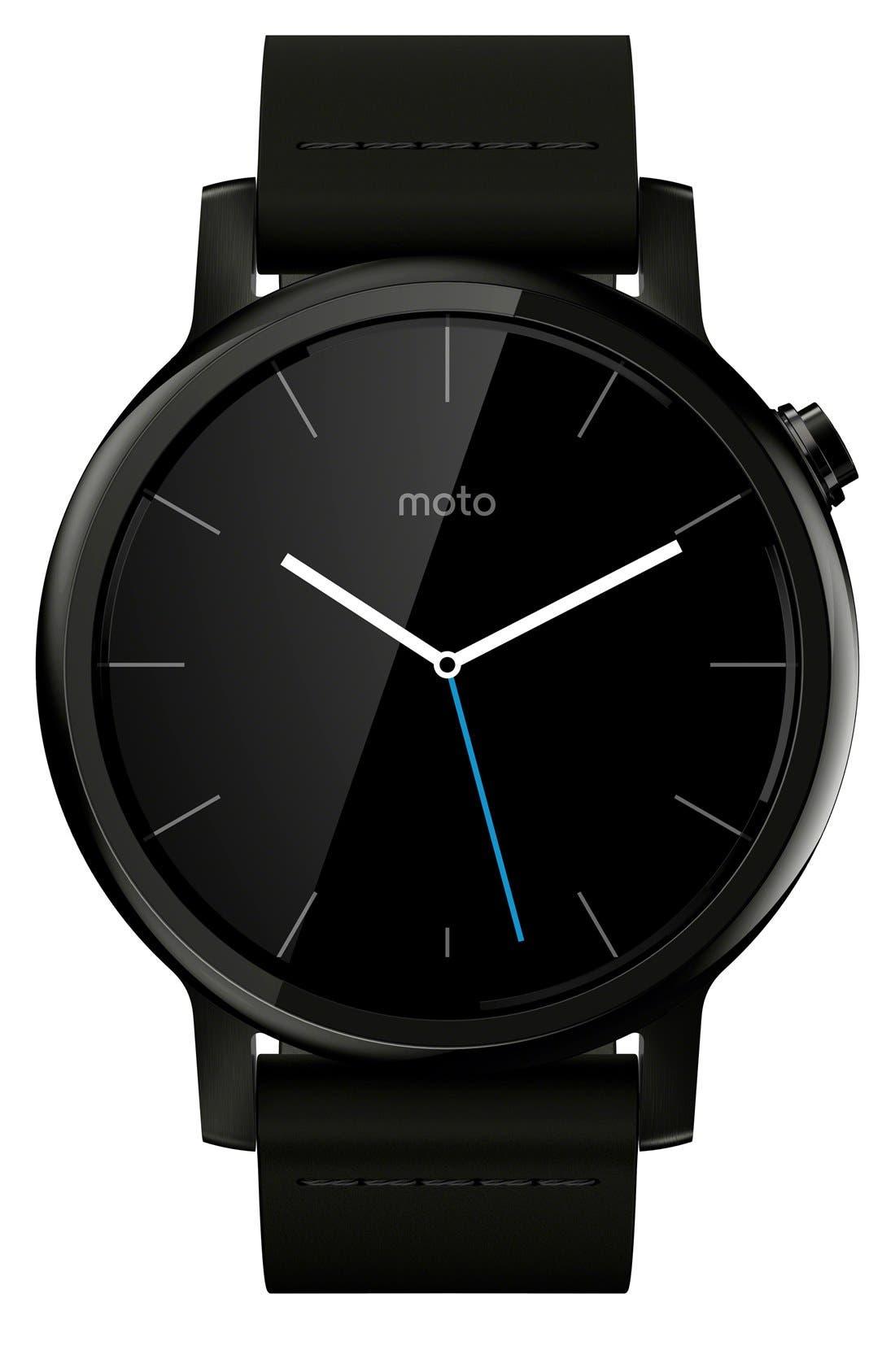 Alternate Image 1 Selected - Motorola 'Moto 360 2nd Gen' Smart Watch, 42mm
