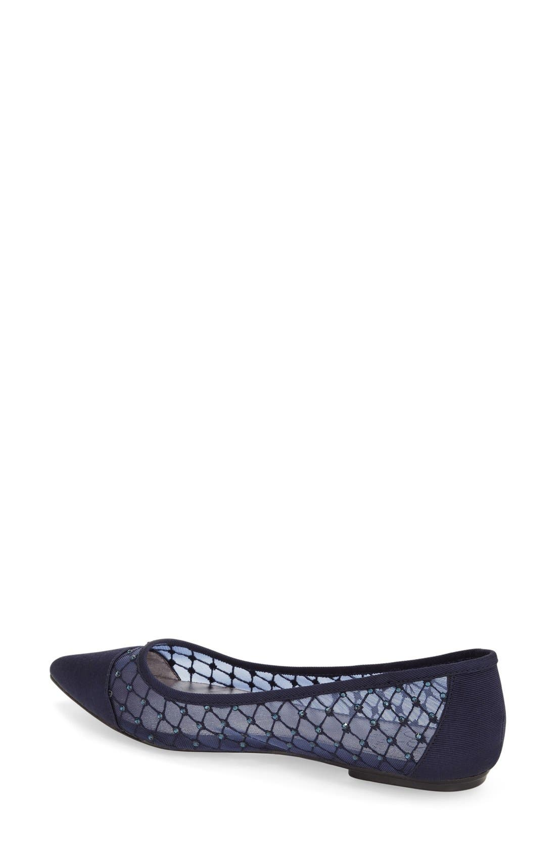 Alternate Image 2  - Adrianna Papell Jeweled Mesh Ballet Flat (Women)