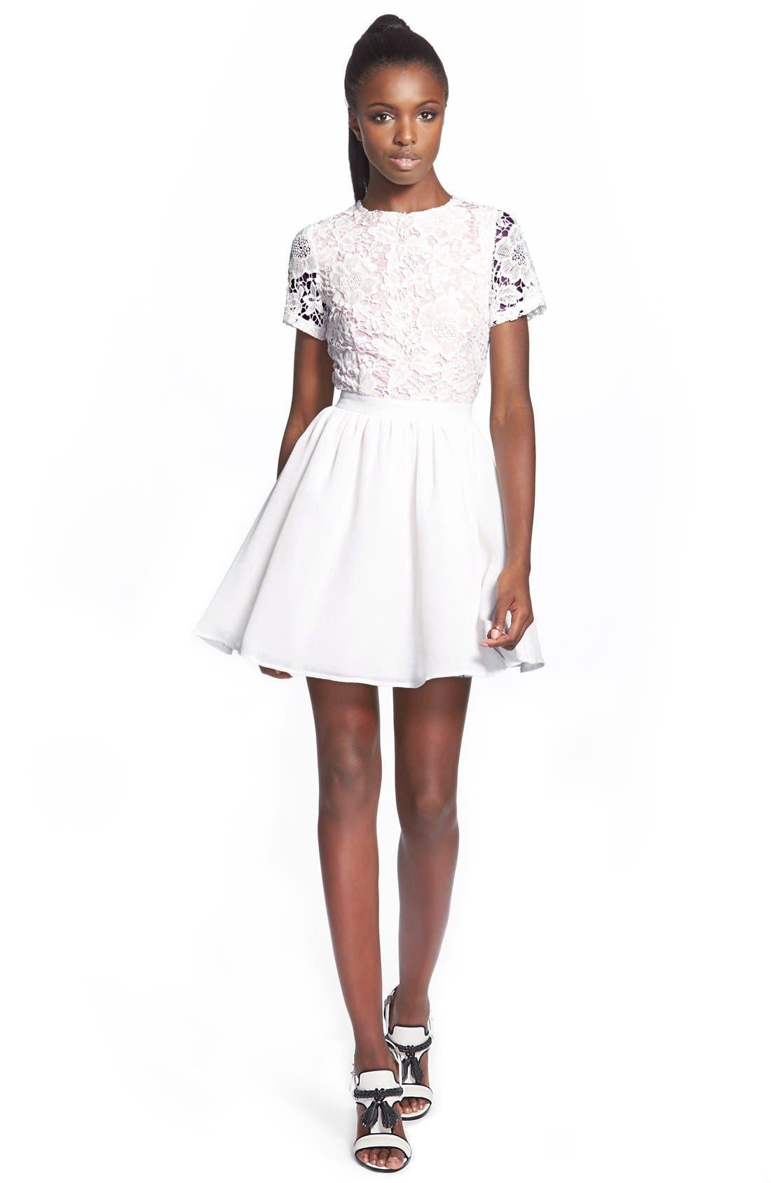 Alternate Image 1 Selected - Missguided Crochet Skater Dress