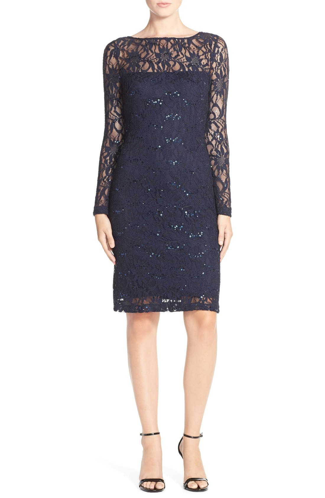 Alternate Image 4  - JS Collections Illusion Lace Dress