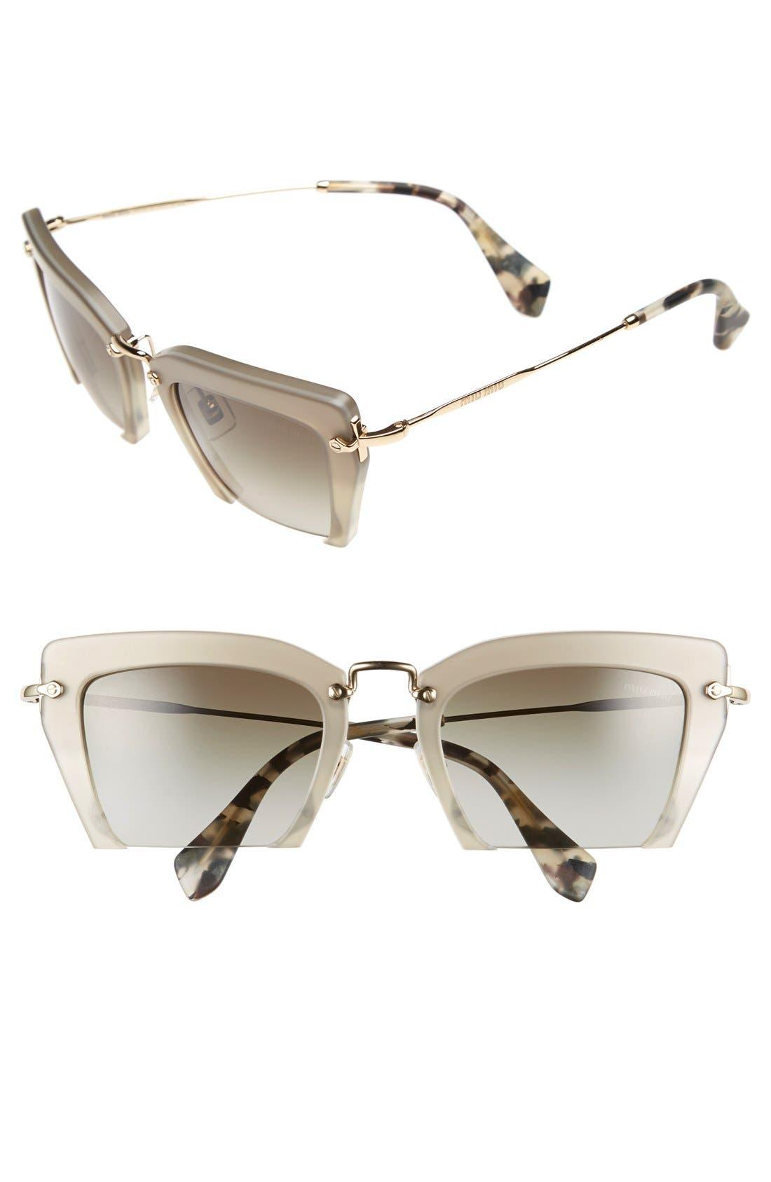 Miu Miu'Noir' 54mm Cat Eye Sunglasses